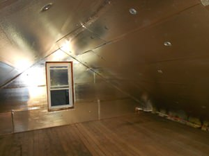 A Richmond attic with SuperAttic installed.