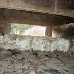 A crawl space vent in Sandston that's bringing moisture into the home