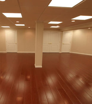 Rosewood faux wood basement flooring for finished basements in Richmond